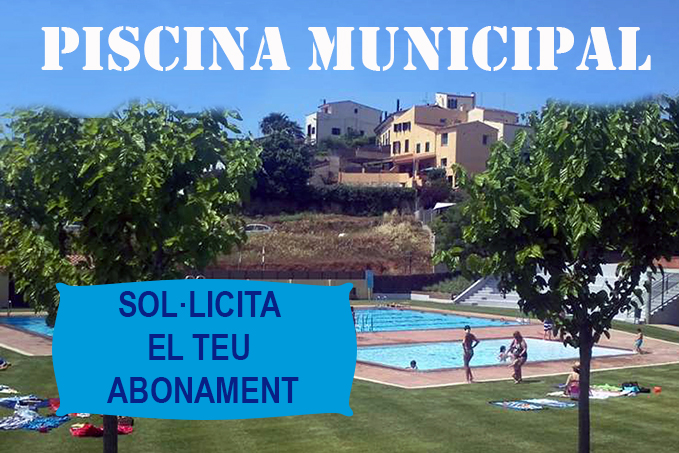 Abonaments Piscina Municipal